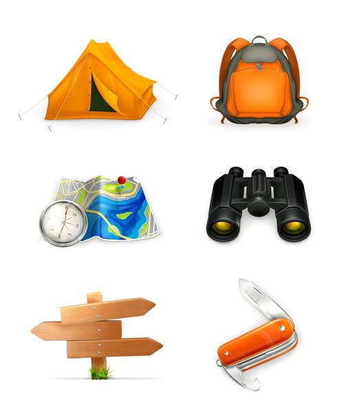 Camping adventure tool vector