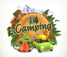 Camping vector illustration