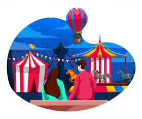 Carnaval flat illustration vector
