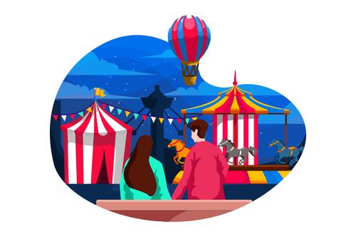 Carnaval flat illustration vector