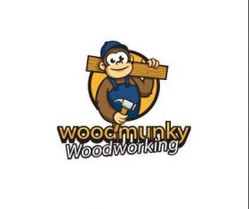 Carpenter monkey logo vector