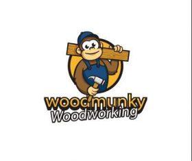 Carpenter monkey logo vector