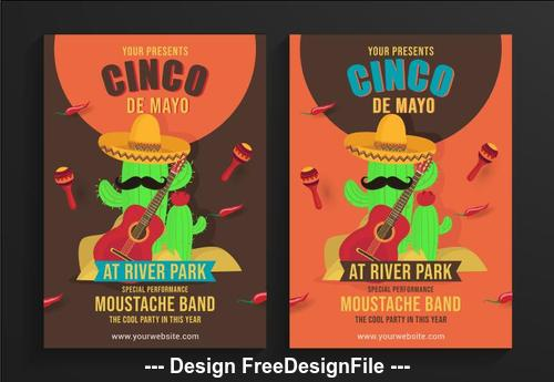 Cartoon cinco de mayo festival poster vector