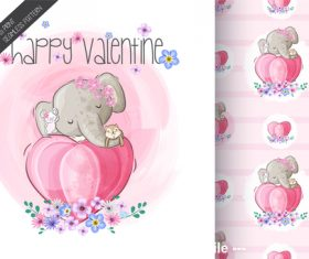 Cartoon elephant background vector