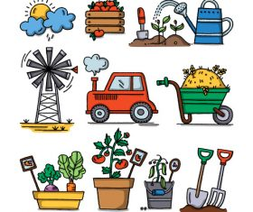 Cartoon farm element illustration vector