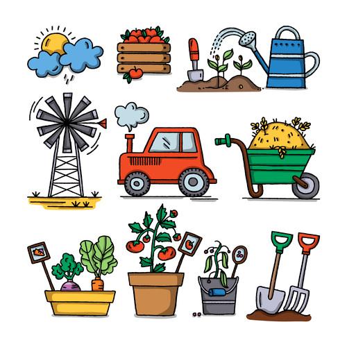 Cartoon farm element illustration vector