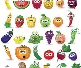 Cartoon fruit icon vector