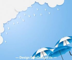 Cartoon illustration rainy season vector