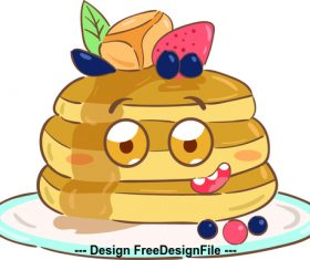 Cartoon pastry illustration vector