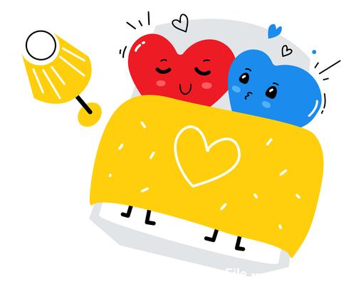 Cartoon valentines hearts illustration vector