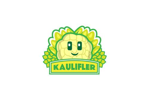 Cauliflower mascot logo vector