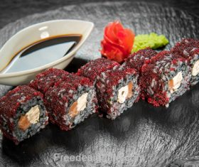 Caviar and sushi HD Photo