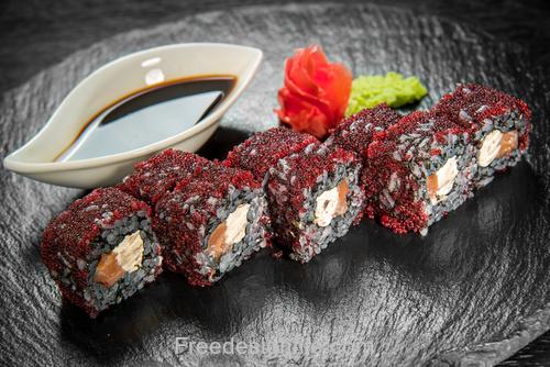 Caviar and sushi HD Photo