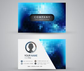 Checkered pattern business card template design vector