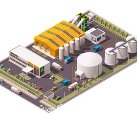 Chemical plant vector