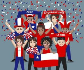 Chile fan club vector