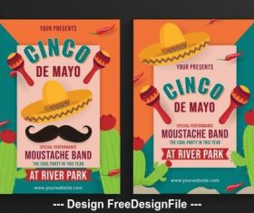 Cinco de Mayo festival poster vector