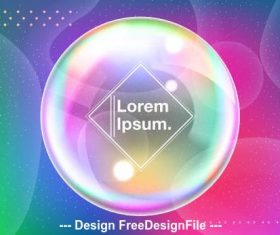 Circular shiny abstract background vector