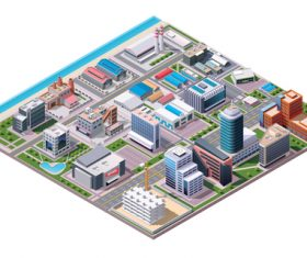 City building layout vector
