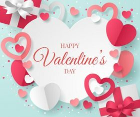 Clipart valentines day greeting card vector