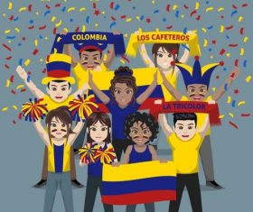 Colombia fan club vector