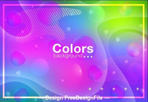 Colorful abstract background fluid gradient vector