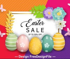 Colorful background easter egg vector