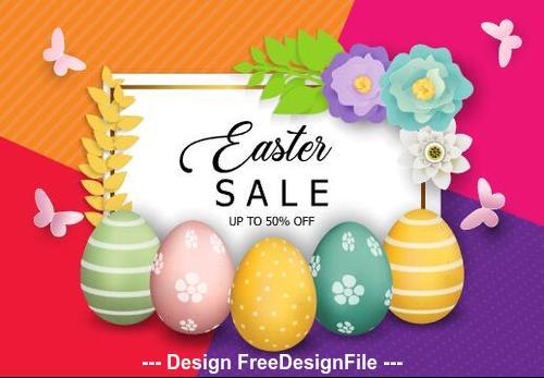 Colorful background easter egg vector