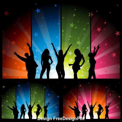 Colorful banner party background vector