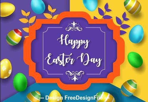 Colorful easter card vector
