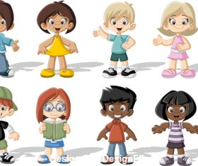 Colorful kids vector