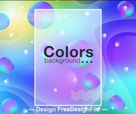 Colors abstract background vector