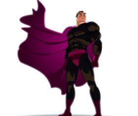 Cool superheroes cartoon illustration vector