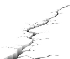 Crack in the ground vector