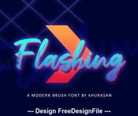 Creative Flashing Font