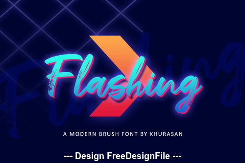 Creative Flashing Font