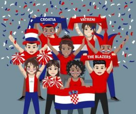 Croatia fan club vector