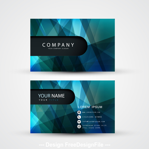 Cross abstract pattern business card template design vector