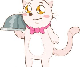 Cute Cat Cartoon Illustration vector