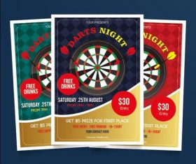 Darts night poster vector