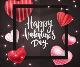 Decorative beautiful Valentines day card vector
