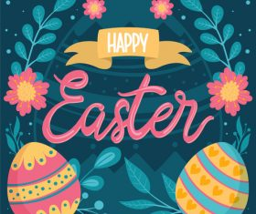 Decorative easter egg pattern background vector