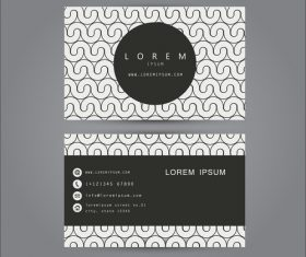 Decorative pattern business card template design vector