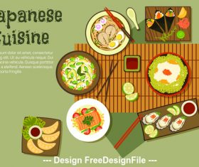 Delicate Japanese food vector