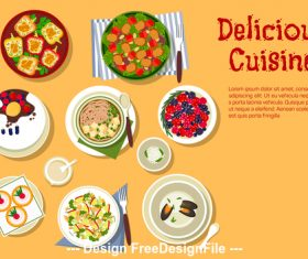Delicious cuisine vector