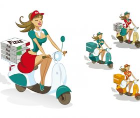 Delivery food cartoon illustration vector