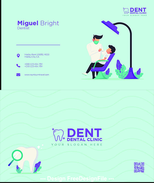 Dent Bussines Card PSD Template