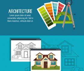 Design architectural vector
