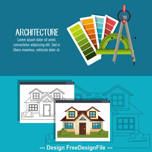 Design architectural vector