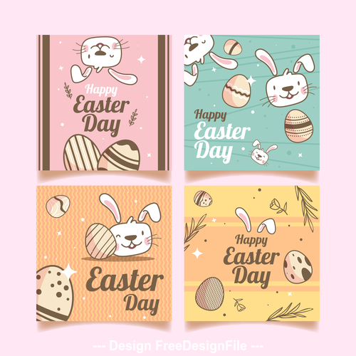 Design easter greeting card vector